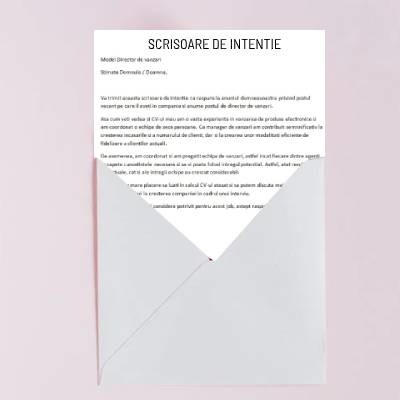 Scrisoare de intentie - Scrisoare de motivatie-plic